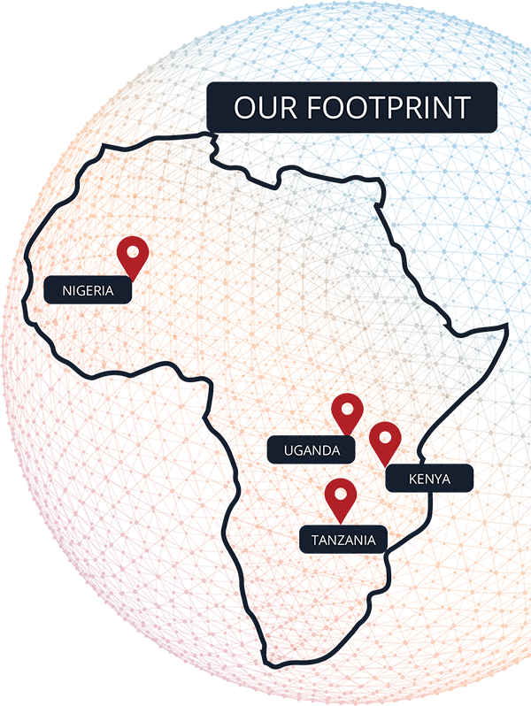 our footprint map